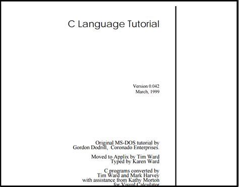 Language Tutorial Website | c language tutorial by ntnu web development technology