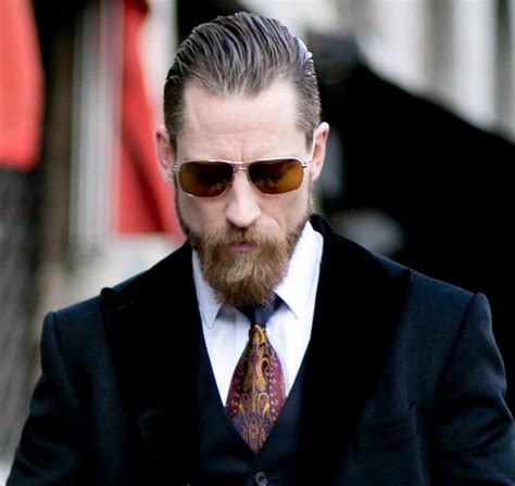 slick back with receding hairline streetstyle slick back beard justin oshea mens