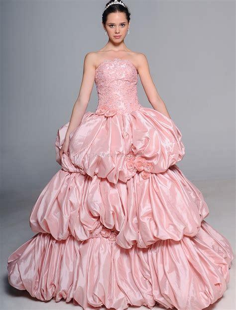 Pink Wedding Dresses by Pink Wedding Dress Trends 2016 Fashion Fuz