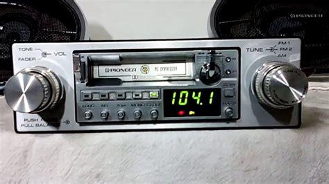 cassette car stereo vintage pioneer ke 6100 am fm cassette car stereo w ts 698