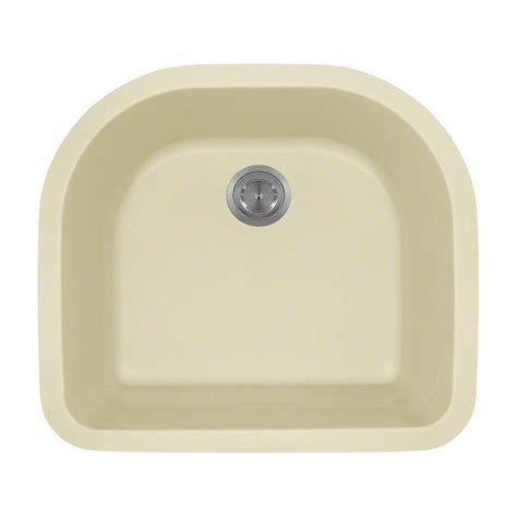 Beige Kitchen Sinks Polaris Sinks Undermount Granite 25in Single Bowl Kitchen Sink In Beige P428 Beige The Home Depot