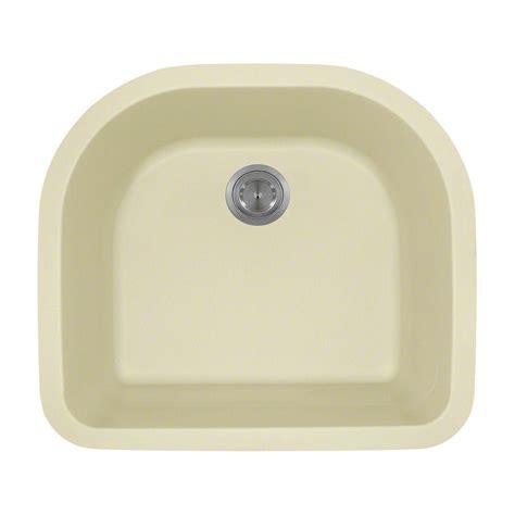 polaris sinks undermount granite 25in single bowl kitchen sink in beige p428 beige the home depot