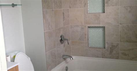 My bathroom remodel Tub   Lowes Toliet   Lowes Tiles
