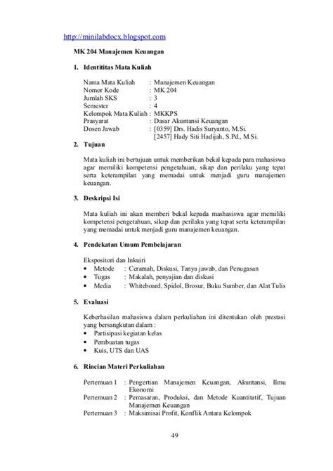 Manajemen Personalia By M Manullang Ugm silabus lengkap gabungan