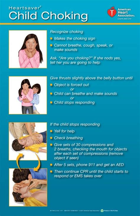 printable choking instructions 15 best cpr first aid images on pinterest first aid kid