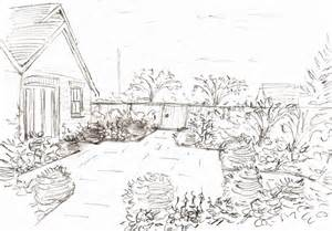Drawing Of Garden gallery for gt garden drawing pictures