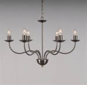 Candle Chandelier The Haconby 6 Arm Wrought Iron Candle Chandelier