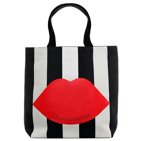 Lulu Guinness Striped Maddy Tote by Stripe Foldaway Tote S Bag
