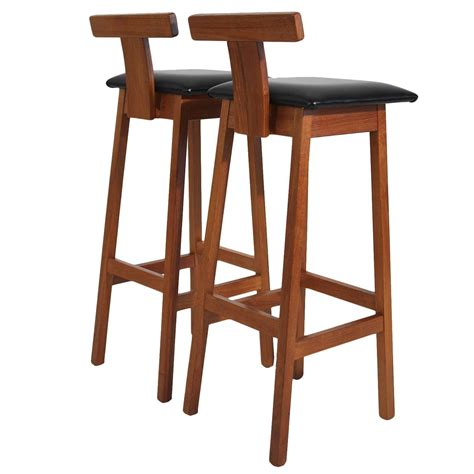 teak bar stools dyrlund modernist solid teak danish bar stools for sale at