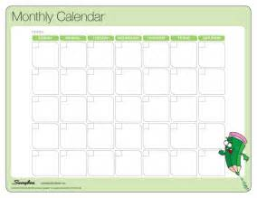 Calendar Monthly Template by Monthly Calendar Laminating Templates