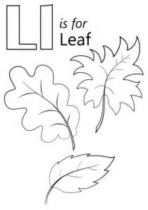 l words coloring page letter l is for leaf coloring page free printable