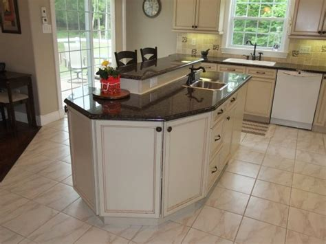 2 level kitchen island two level breakfast island kitchen breakfast bar