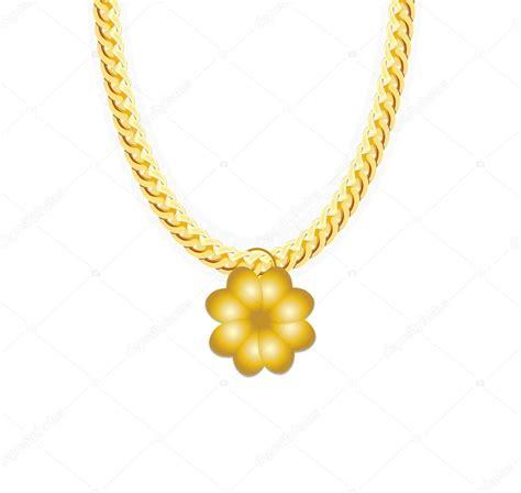 cadena oro vector whith joyas cadena oro tr 233 bol de cuatro hojas ilustraci 243 n