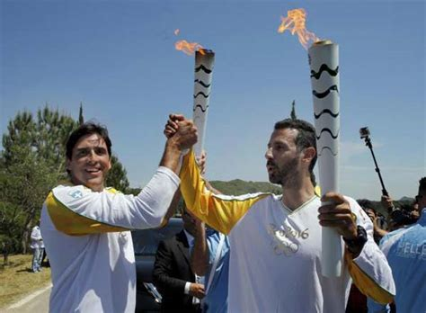 Olympics L by Countdown Starts With Olympia Torch Lighting