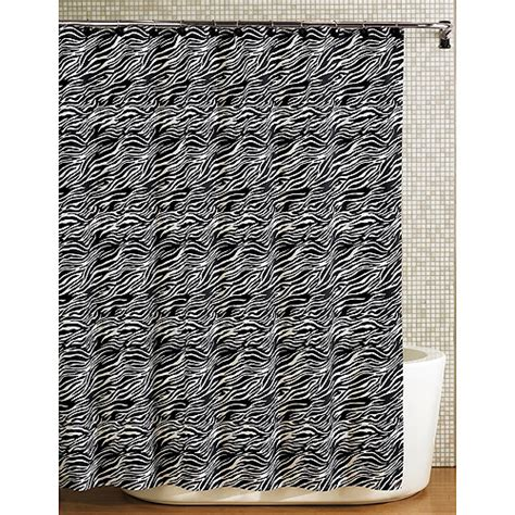 zebra print curtains walmart hometrends karibu zebra shower curtain black white bath