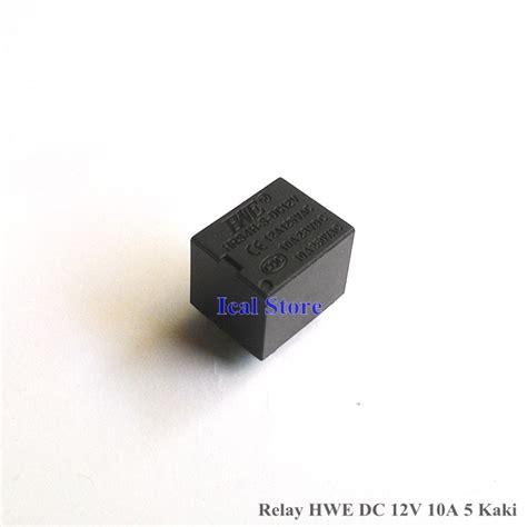 Relay 5 Volt Dc relay dc 12v 10a 5 kaki hwe hitam volt dc ical store