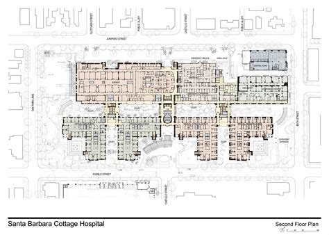 Courtyard Planning Concept santa barbara cottage hospital replacement hospital