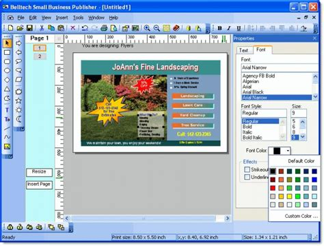 picture design software belltech small business publisher