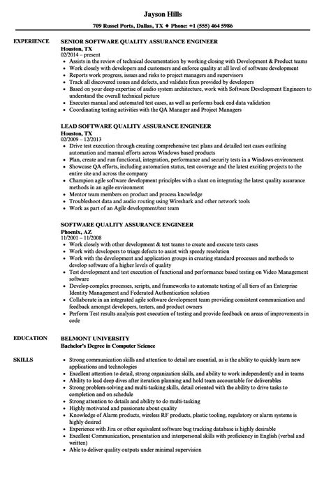quality engineer resume