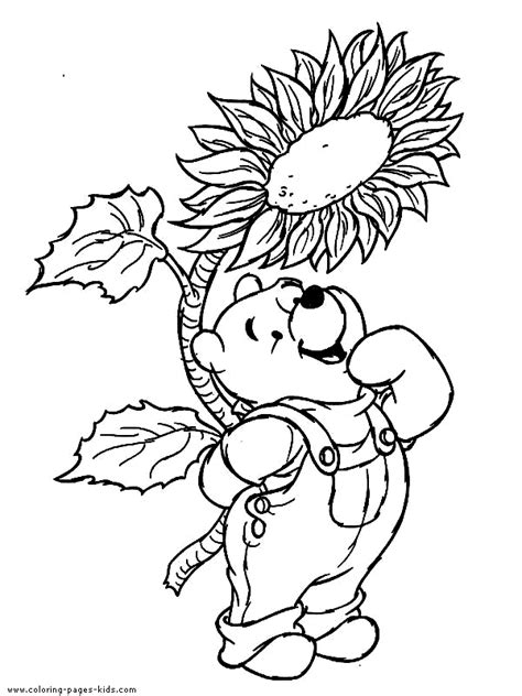 winnie the pooh coloring page autumn winnie the pooh color page disney coloring pages color