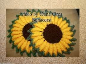 Crochet sunflower hot pad youtube