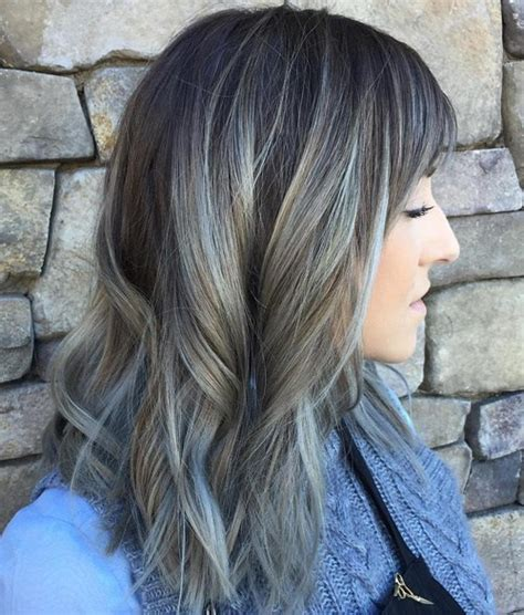 how to create gray highlights in brown hair 20 shades of the grey hair trend