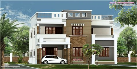 home design exterior elevation 4 bedroom house with roof terrace plans google search
