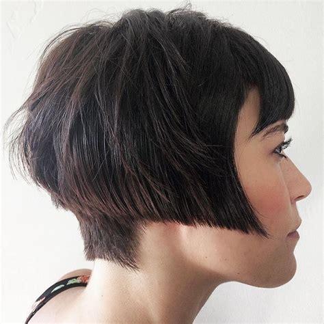 how to cut angle bangs towards face 50 classy short bob haircuts and hairstyles with bangs