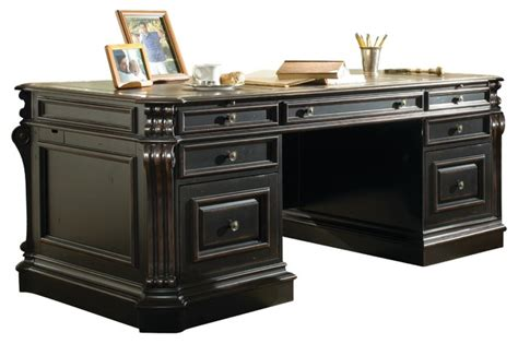 Telluride Desk by Telluride 76 Executive Desk With Wood Panels