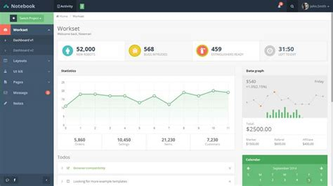 layout templates for bootstrap 20 free premium bootstrap admin dashboard templates envato