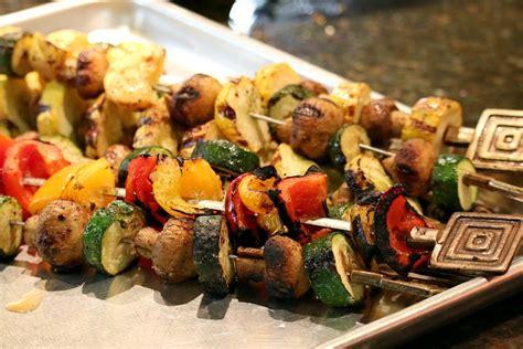 vegetables kabobs grilled vegetable kabobs