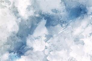 Blue And White Grunge Paint Watercolour Wallpaper Murals