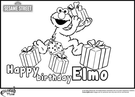 happy birthday elmo coloring page elmo 2 coloring pages