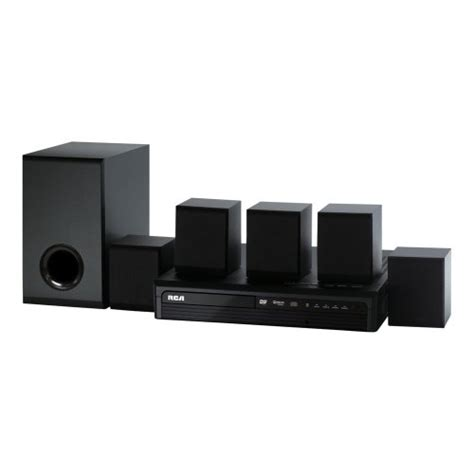 rca 130w dvd home theater system black rtd980
