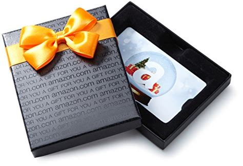 Amazon Gift Card For Apps - amazon com gift card in a black gift box holiday globe card design most popular