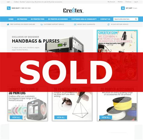 website for sale established 3d printer business website opportunity for