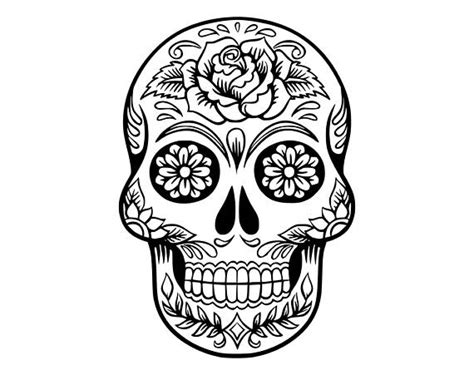 Sticker Cutting Terror Skull sugar skull svg skull svg dxf sugar skull black white