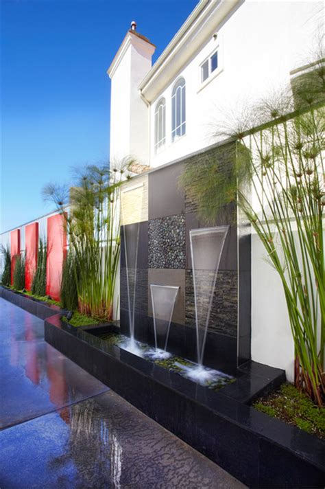 design water feature san clemente residence outdoor modern landscape