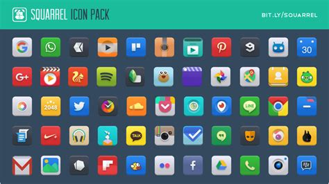 icon packs for android squarrel icon pack for android by charmeleo on deviantart