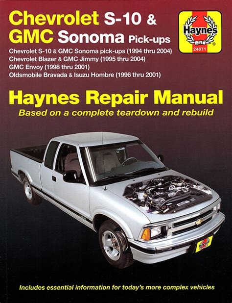manual repair autos 2001 oldsmobile bravada regenerative braking chevy s10 sonoma blazer jimmy bravada repair manual 1994 2004
