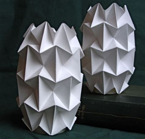 Folded Paper Light Shade - handfolded paper tea light shades by dingolux