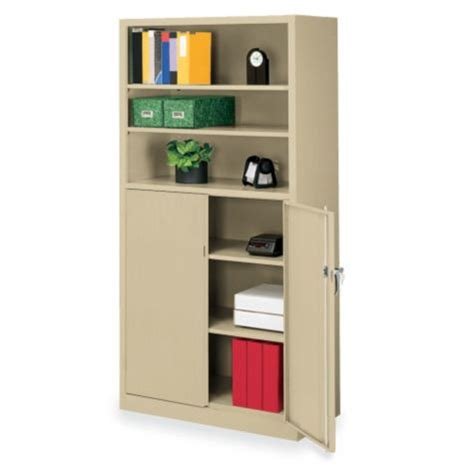 tennsco locking bookcase cabinet w shelves
