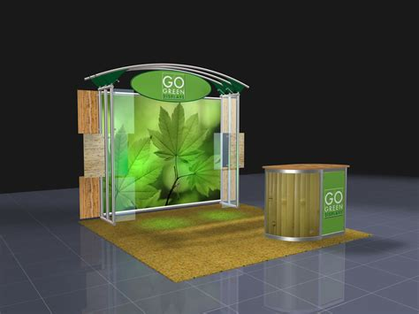 go design trade show booth displays go green displays