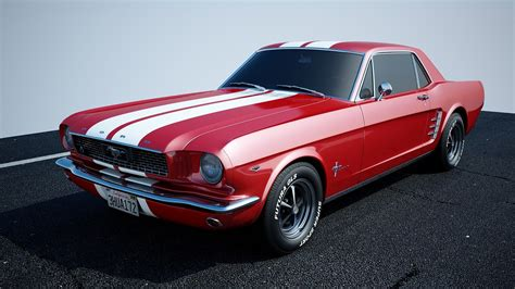 1966 mustang models mustang car 3d c4d