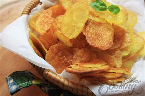 Handmade Crisps - baked potato chips home cooking adventure