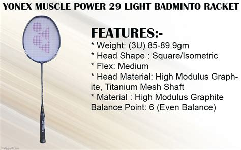 Raket Yonex Power 29 Light yonex power 29 vs power 22 images