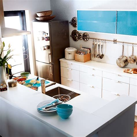 ikea kitchen design for a small space glass and white gloss kitchen from ikea mixed finish kitchens 10 best housetohome co uk