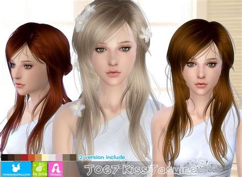 sims 2 hairstyle download are you sniffing my hair my sims 4 blog newsea kiss jasmine hair for females