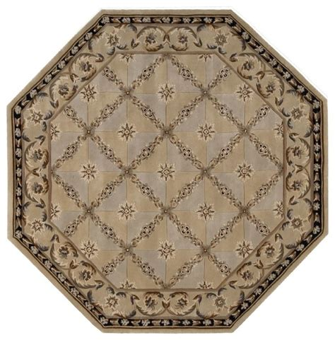 Transitional Area Rugs Transitional Versailles Palace Octagon 6 0 Quot X6 Octagon Beige Area Rug Transitional Area Rugs