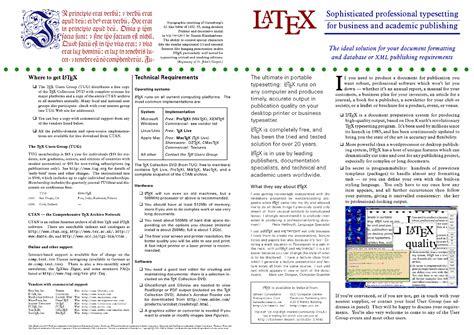 template brochure latex the latex brochure